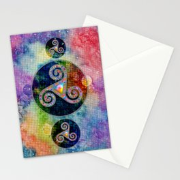 Trisquel with Watercolor Background V Iphone Stationery Cards