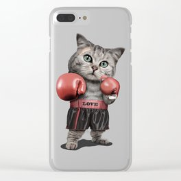 BOXING CAT Clear iPhone Case