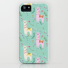 Llama Pattern iPhone Case