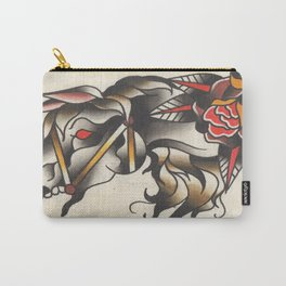 Horse Tattoo Watercolor Carry-All Pouch