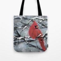 cardinal Tote Bags featuring Cardinal by Ben Geiger
