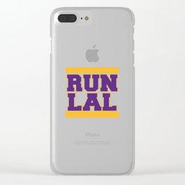 RUN LAL Clear iPhone Case