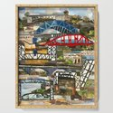 """Cleveland Bridges"" in cut paper by Willowcatdesigns by willowcatdesigns"