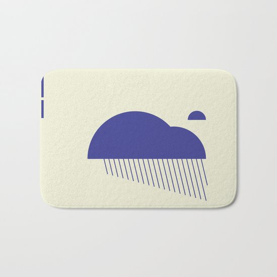 Minimal Clouds Rain Bath Mat