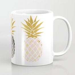 fun pineapple design gold Coffee Mug