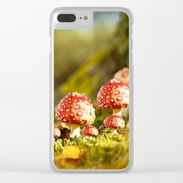 Beautiful but toxic - Fly agaric - Amanita - Autumn illustration - #society6 #buyart Clear iPhone Case