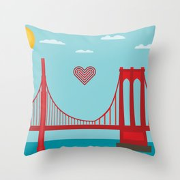 west to east Throw Pillow