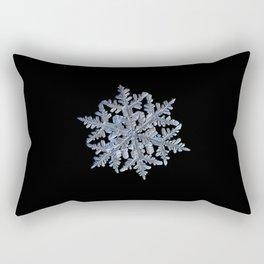 Real snowflake 13 February 2017 n.3 black Rectangular Pillow