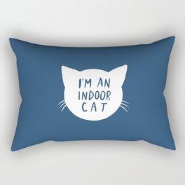 Indoor Cat (silhouette) Rectangular Pillow
