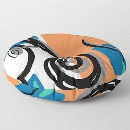Scroll Pride - violin viola cello love - orange and teal Floor Pillow
