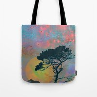 tchmo Tote Bags featuring Dream Forest by Starstuff