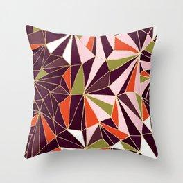 New Art Deco Geometric Pattern - Burgundi and Pink #deco #buyart Throw Pillow