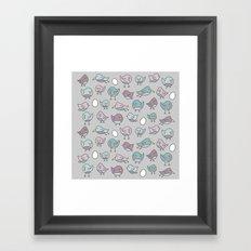 For the Birds Pattern Framed Art Print