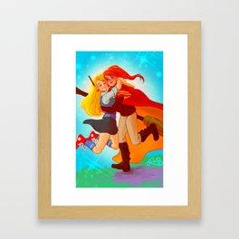 Ginny and Luna hug Framed Art Print