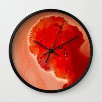 silhouette Wall Clocks featuring Silhouette by Delphine Comte
