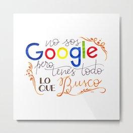 Google Metal Print