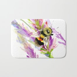 Bee and Flowers Bath Mat