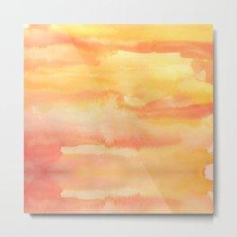 Apricot Sunset Metal Print
