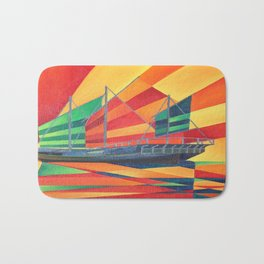 Sail Away Junk Pleasure Boat Bath Mat