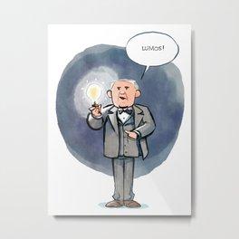 Thomas Edison - Lumos! Metal Print