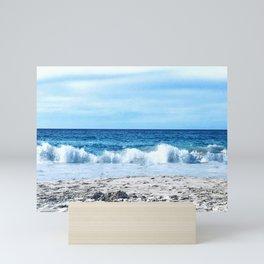 Pacific sea blue Mini Art Print