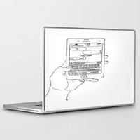 text Laptop & iPad Skins featuring Text by CreatureContours