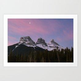 Three Sisters Sunrise Art Print