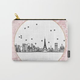 Paris, France, France, Europe City Skyline Illustration Drawing Carry-All Pouch