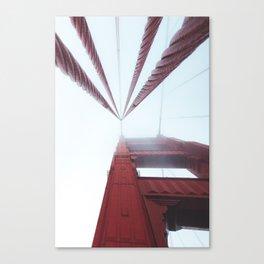 Golden Gate Bridge fogged up - San Francisco, CA Canvas Print
