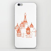 moscow iPhone & iPod Skins featuring Moscow by OneOneTwo