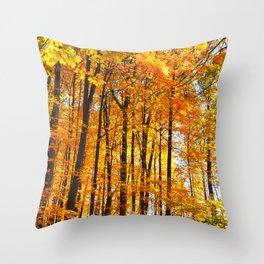 Autumn Hillside Throw Pillow
