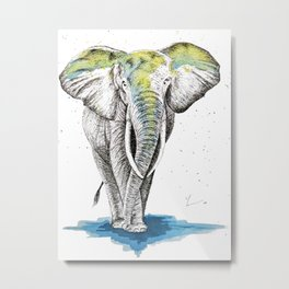 Elephant I Metal Print