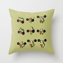 OLYMPIC LIFTING  Avocado Throw Pillow