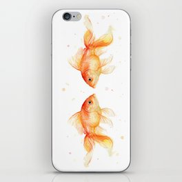 Goldfish Love Watercolor Fish Painting iPhone Skin