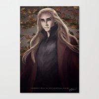 thranduil Canvas Prints featuring Thranduil by Hanna Nordin