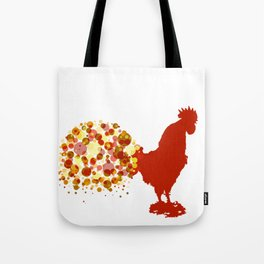 Chinese Lunar New Year Of The Rooster Zodiac Animal 2017 Tote Bag