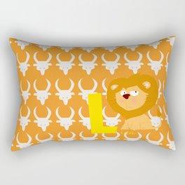 l for lion Rectangular Pillow