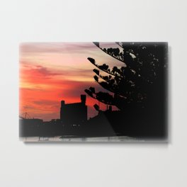 Sunrise at Port of Portland Metal Print