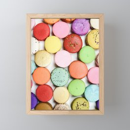 Delicious French Macaroons Framed Mini Art Print
