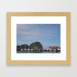 Fishing Village of Koh Panyi Framed Art Print