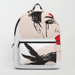 Lana and Her Red Lips - Musically Digital Fan Art Backpack