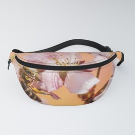 Bee - Insect - Honey Bee - Pollen - Garden - Nectar - Nature. Little sweet moments. Fanny Pack