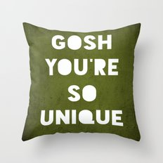 Gosh (Unique) Throw Pillow