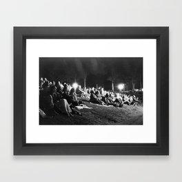 Concert Crowd Framed Art Print