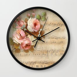 Vintage Music #5 Wall Clock