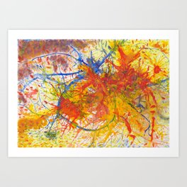 Branches Aflame with Flower Art Print