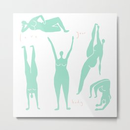 Abstract dancing ladies Metal Print