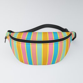 Tropical Rainbow Stripe with Yellow Fanny Pack