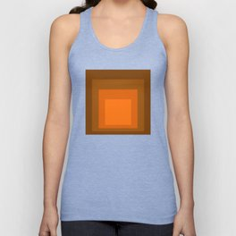 Block Colors - Orange Unisex Tank Top