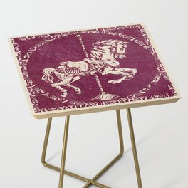 Vintage Carousel Horse - Mulberry Side Table